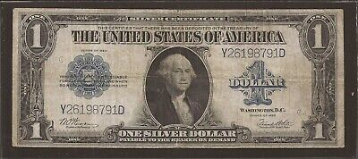 1923 $1 Silver Certificate Horse Blanket Note,FR 238,Blue Seal,Circ VF,Nice!