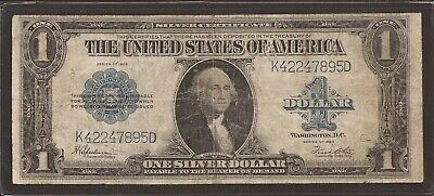 1923 $1 Silver Certificate Horse Blanket Note,FR 237,Blue Seal,Circ Fine,Nice!