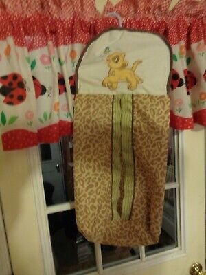 Disney The Lion King Baby Simba Chasing A Butterfly Leopard Print Diaper Stacker