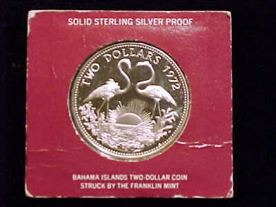 1972 Bahamas .925 Sterling Silver $2.00 Coin, Brilliant Proof