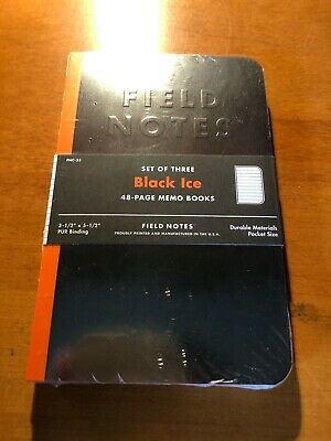 Field Notes Limited Edition Notebooks - Black Ice Edition - FNC-33 Winter 2016