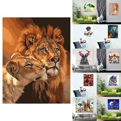 Various Art Paint By Number Kit DIY Acrylic Oil Painting On Canvas Decor