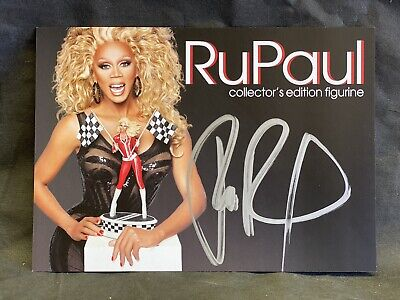 Exclusive RuPaul Drag Race with Flags Tweeterhead Autographed Card Rare