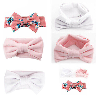 3pcs Baby Girl Headband Ribbon Elastic Headdress Kids Hair Bands Newborn Bow Set