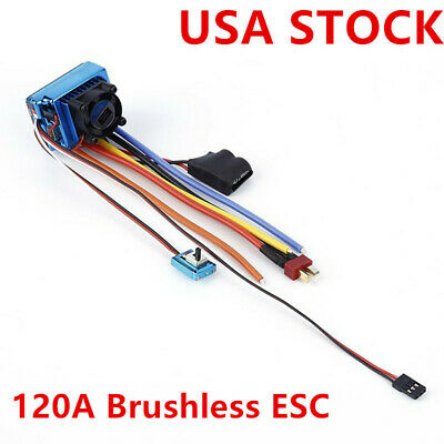 120A Brushless ESC Electric Speed Controller for 1/8 1/10 RC Car Model Parts US