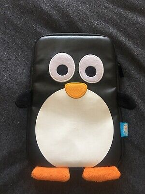 funky penguin kids tablet case, 9'' by 6'', leatherette.