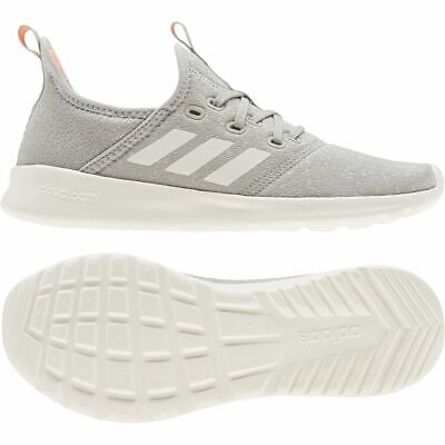 Adidas Womens Ladies Cloudfoam Pure Textile Sports Casual Shoes Trainers Grey