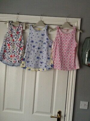 Bundle of girls Joules summer vest tops age 7-8 years