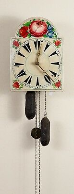 Very Rare Antique German Black Forest Shield Clock