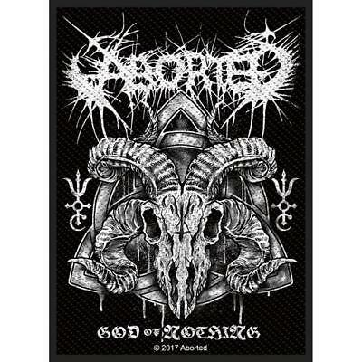 Official Licensed - Aborted - God Of Nothing Sew-On Patch Death Metal