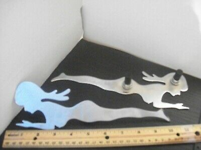 """10"""" Chrome Naked Mud Flap Girl Silhouettes - Pair"""