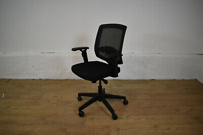 Black Fabric/Mesh Office Operator Swivel Chair [Lumbar Support] 3 Available