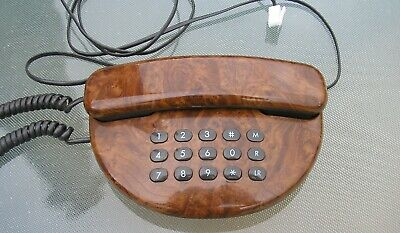 1970'S Retro/Kitsch Push Button Wood Effect Telephone Ready To Plug In No Res.