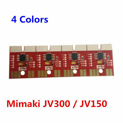 Chip Permanent for Mimaki JV300 / JV150 SS21 Cartridge 4 Colors CMYK