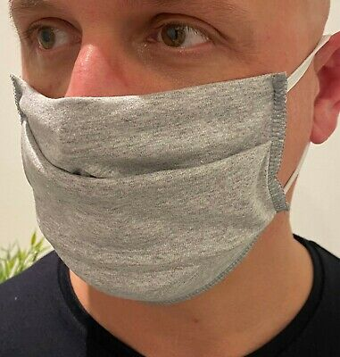 Face Mask Black Cotton Mouth Reusable Mask Washable Adult Mask - UK STOCK