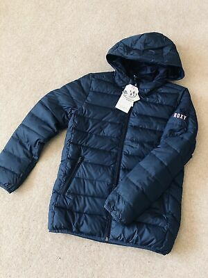 Brand New Girls Roxy Lightweight Padded , Water Resistant Jacket, Age 12