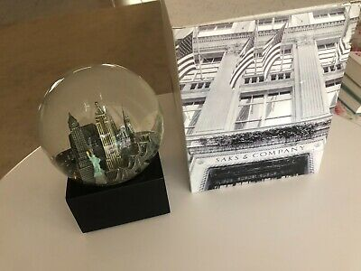 New York Musical Snow Globe Saks