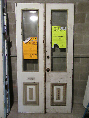 ~ ANTIQUE DOUBLE ENTRANCE FRENCH DOORS  ~ 44 x 87 ~ ARCHITECTURAL SALVAGE