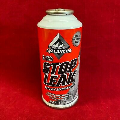 Black Diamond Avalanche A/C Auto Air Conditioning Stop Leak Charge 3oz R134a