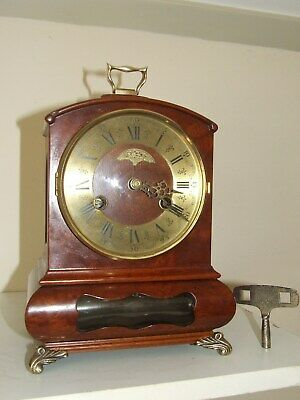 "Rare Dutch Warmink/Wuba Mantle Clock,""Cabinet"", Pendulum Movement, 2 bells"