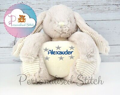 Personalised Teddy Bear Bunny Blanket Embroidered Christening Gift Baby Birthday