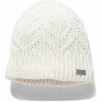 Women's Under Armour Around Town Ivory Cable Knit Beanie One Size - NEW