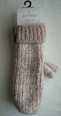 Women's Aspen Cuddly Soft Cuffed Adult One Size Rose Pink Mittens - NEW