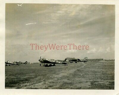 *WWII photo- Russian SOVIET AIR FORCES Bomber & Transport plane on Airfield*