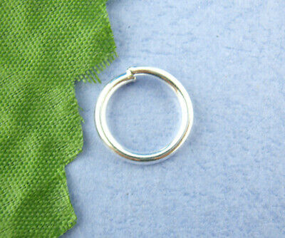 Findings - 12mm Silver Plated Round Opened Jump Rings - 50Pcs