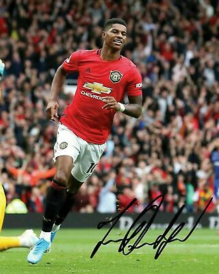 Marcus Rashford - Manchester United Signed Autographed 8X10 Signed Reprint