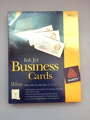 InkJet Business Cards White (1000 cards)