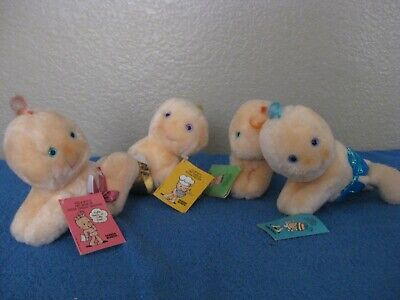 Set of Four Hugga Bunch Taco Bell 1984 Collectible Fast Food Toy Dolls