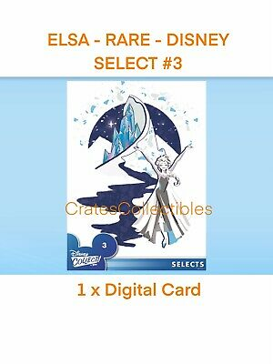 Topps Disney Collect Digital Elsa Rare Disney Selects #3 *digital