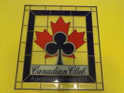 Canadian Club Whiskey Glass Hanging Bar Sign