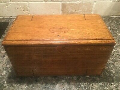 Singer Sewing Machine Wood Puzzle Box Patented 1889 With Attachments