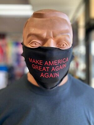 NOVELTY 2020 Fabric Face Mask   |   MAKE AMERICA GREAT AGAIN AGAIN TRUMP SUPPORT