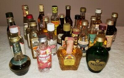 Mini Empty Liquor Bottle Collection - Lot #3  (25 bottles)