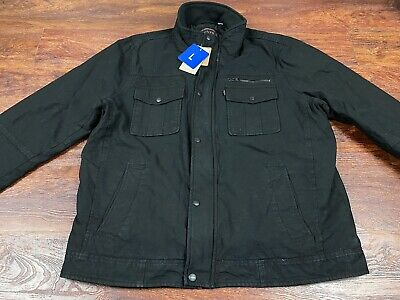 *NWT* LEVI STRAUSS Men's Black Full Zip up/Button Down jacket Size Large Regular