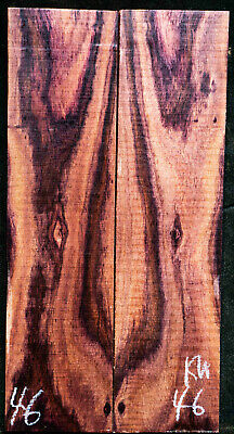 """Kingwood Brazilian #46 Knife Scales 7.3""""x1.9""""x 3/8""""see 100 woods in my store"""