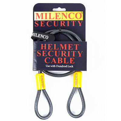 MILENCO Motorcycle Helmet Security Cable 'Sold Secure' Standards
