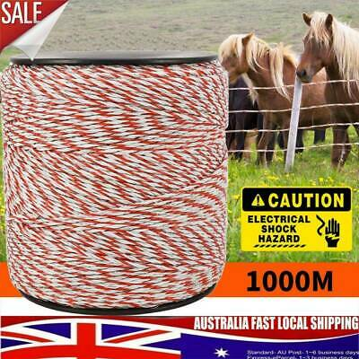 1000m Polywire Roll Electric for Fence Energiser Stainless Poly Wire Insulator
