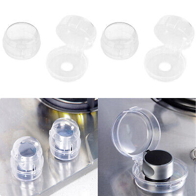 4X Oven Stove Cooker Gas Hob Key Knob Clear Covers ASB Shield Baby Kids Safe
