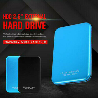 """NEW Portable USB 3.0 External Mobile Hard Drive 2.5"""" HDD 2TB for PC Laptop"""