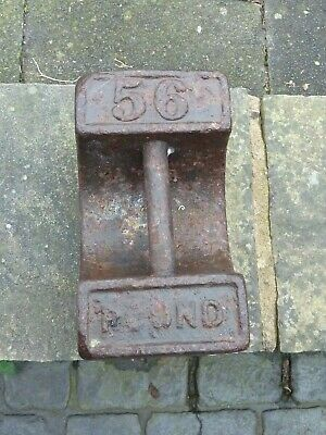 Vintage Rustic 56 Pound Cast Iron Weight Garden Doorstop