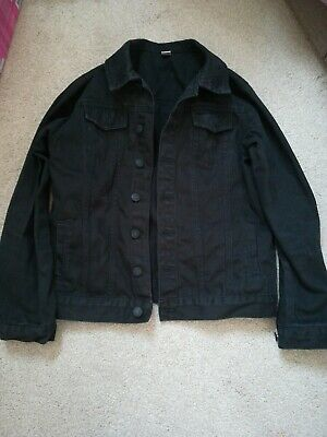 Girls Age 11-12 Denim Black Jacket