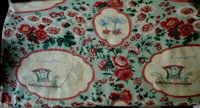 Classical Chinoiserie 100%  Cotton Fabric (curtains, soft furnishings) Chateau