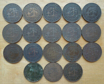 Prince Edward Island PEI Canada 1871 Victoria One Cent Bronze Coins Collection