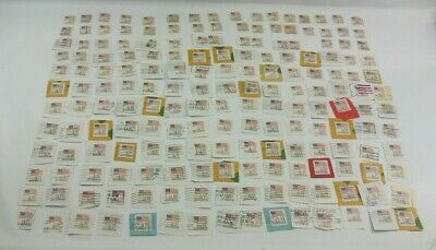 Vintage Postage Stamp Lot USA 180 Stamps 22 Cents Cent Used Cancelled