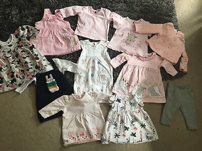 Baby Girls Clothes Bundle 0-3 Months Dresses Disney Gap Minnie Mouse Pink