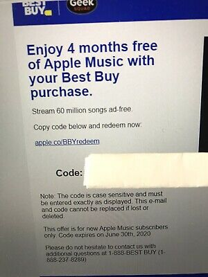 Apple Music 4 Months FREE New Accounts Only